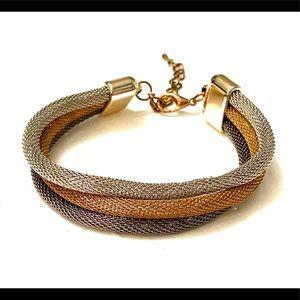 Mixed Metal Mesh Bracelet